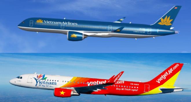 Cá tính thương hiệu thể hiện qua Font chữ - Vietnam Airlines và Vietjet Air